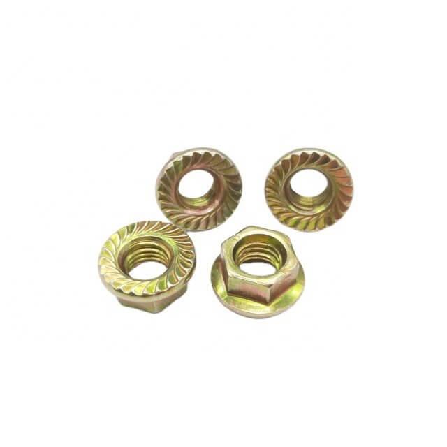 DIN 6923 serrated flange nut