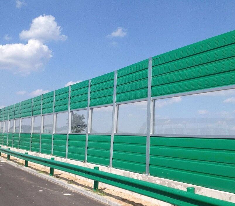 Fixing of noise barriers
